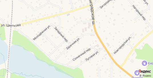 Заречная улица в Приозерске с номерами домов на карте. Спутник и схема онлайн