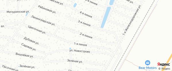Сдт Дружный-1 2-я линия на карте Санкт-Петербурга с номерами домов