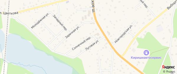 Солнечный переулок на карте Приозерска с номерами домов