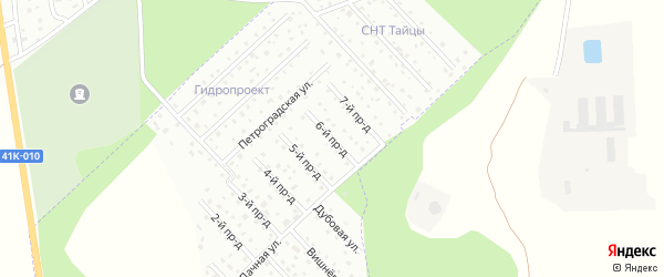 6-й проезд на карте территории Мостовика с номерами домов
