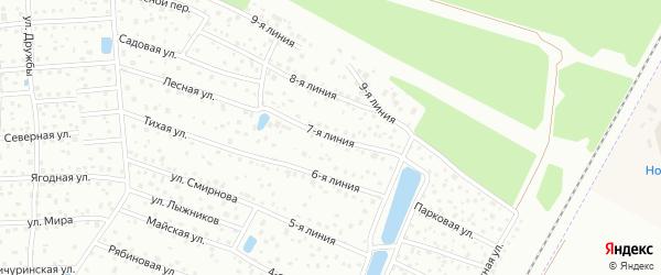 Сдт Дружный-1 7-я линия на карте Санкт-Петербурга с номерами домов