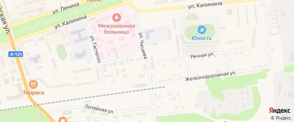 Улица Чапаева на карте Приозерска с номерами домов