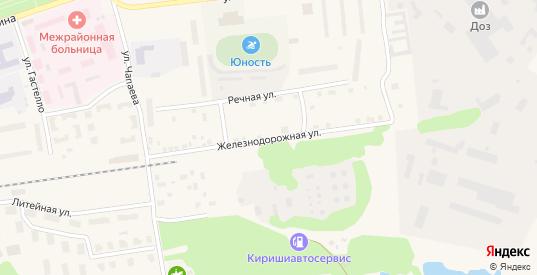 Железнодорожная улица в Приозерске с номерами домов на карте. Спутник и схема онлайн