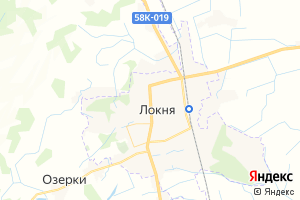 Карта пос. Локня
