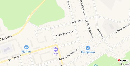 Квартальная улица в Приозерске с номерами домов на карте. Спутник и схема онлайн