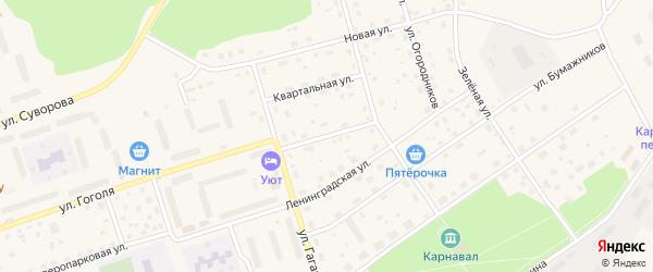 Безымянный переулок на карте Приозерска с номерами домов