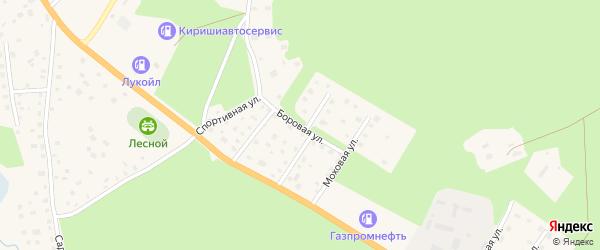 Боровая улица на карте Приозерска с номерами домов