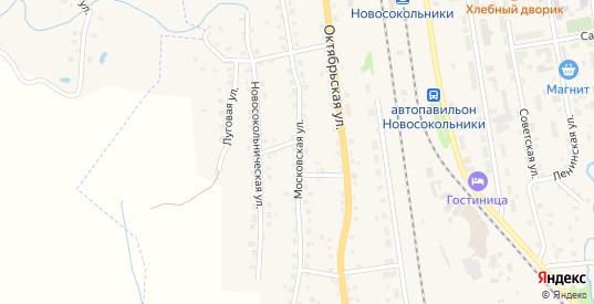 Московская улица в Новосокольниках с номерами домов на карте. Спутник и схема онлайн