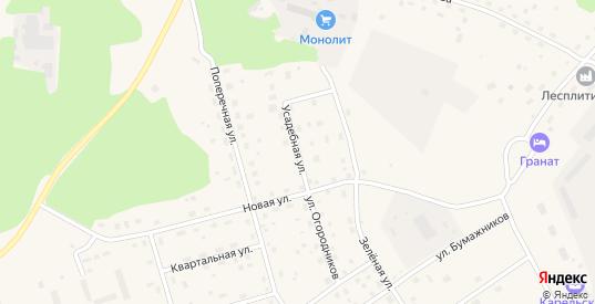 Усадебная улица в Приозерске с номерами домов на карте. Спутник и схема онлайн
