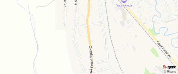 Октябрьская улица на карте Новосокольников с номерами домов