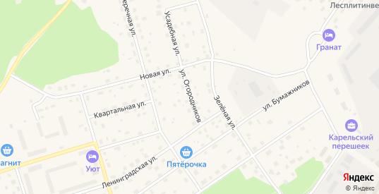 Улица Огородников в Приозерске с номерами домов на карте. Спутник и схема онлайн