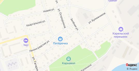 Улица Бумажников в Приозерске с номерами домов на карте. Спутник и схема онлайн