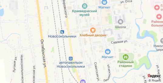 Улица Матросова в Новосокольниках с номерами домов на карте. Спутник и схема онлайн