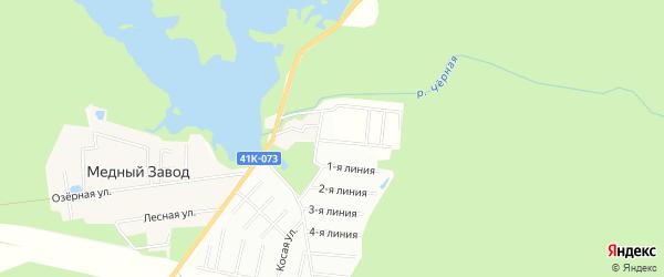 Дачное некоммерческое партнерство Гранит на карте Всеволожского района Ленинградской области с номерами домов