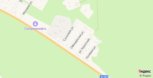 Офицерская улица в Приозерске с номерами домов на карте. Спутник и схема онлайн