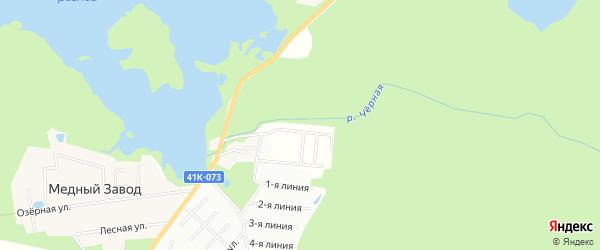 Территория ТСН ДНП Калина на карте Всеволожского района Ленинградской области с номерами домов