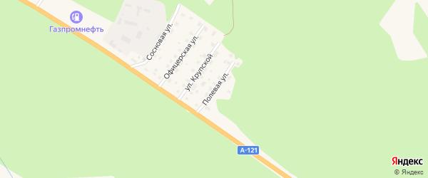 Полевая улица на карте Приозерска с номерами домов