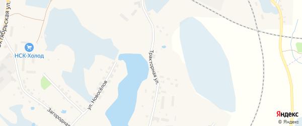 Тракторная улица на карте Новосокольников с номерами домов