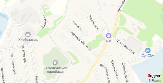 Малоудрайская улица в Новосокольниках с номерами домов на карте. Спутник и схема онлайн