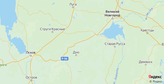 Карта Солецкого района Новгородской области с городами и населенными пунктами
