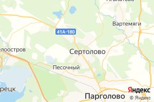 Карта г. Сертолово Ленинградская область
