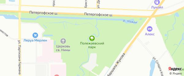 Полежаевский парк на карте Санкт-Петербурга с номерами домов