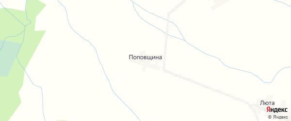 Карта деревни Поповщины в Псковской области с улицами и номерами домов