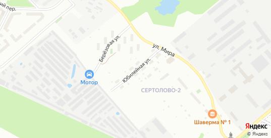 Юбилейная улица в Сертолово с номерами домов на карте. Спутник и схема онлайн