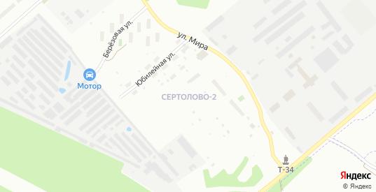 Садовая улица в микрорайоне Сертолово-2 в Сертолово с номерами домов на карте. Спутник и схема онлайн