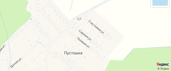 Садовая улица на карте деревни Пустошки Ленинградской области с номерами домов
