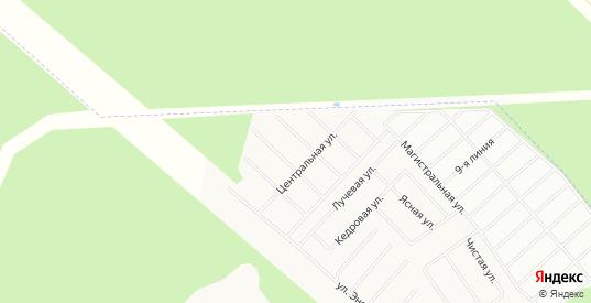 Карта садового некоммерческого товарищества Омега днп в Сертолово с улицами, домами и почтовыми отделениями со спутника онлайн