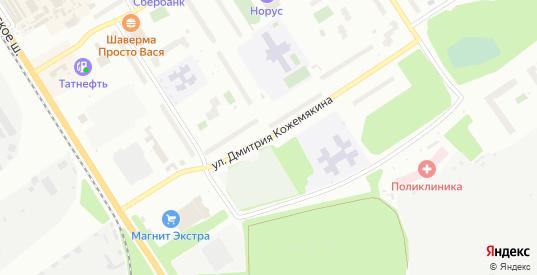 Улица Дмитрия Кожемякина в микрорайоне Сертолово-1 в Сертолово с номерами домов на карте. Спутник и схема онлайн