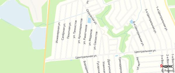 Территория днп Гранит на карте Всеволожского района Ленинградской области с номерами домов
