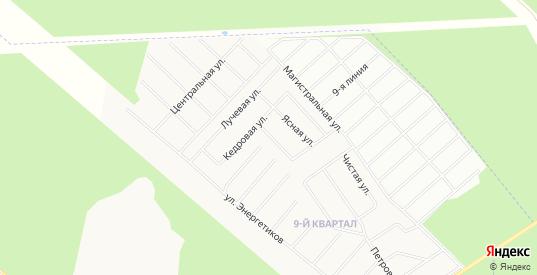 Карта садового некоммерческого товарищества Сияние днп в Сертолово с улицами, домами и почтовыми отделениями со спутника онлайн