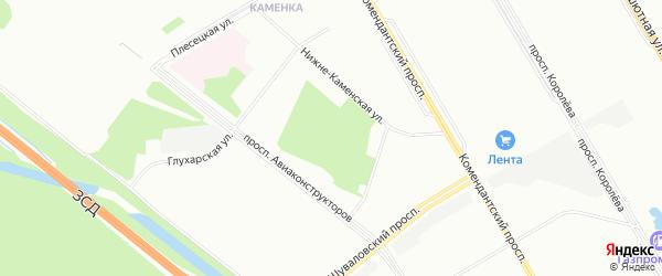 Изотовский сквер на карте Санкт-Петербурга с номерами домов