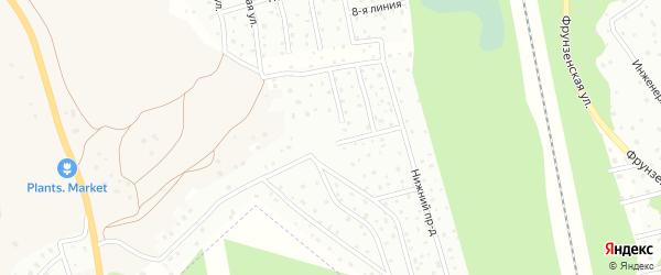 Средний проезд на карте садового некоммерческого товарищества Массив Орехово 67-69 км Золотой Колос Ленинградской области с номерами домов