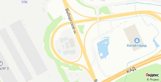 Выборгское шоссе в микрорайоне Сертолово-1 в Сертолово с номерами домов на карте. Спутник и схема онлайн