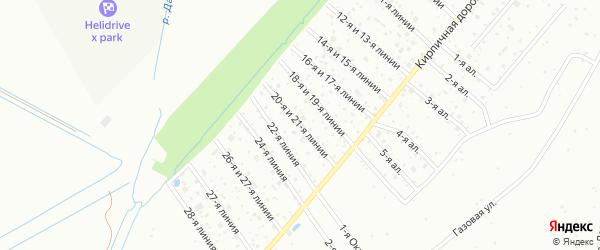 Сдт Труженик 21-я линия на карте Санкт-Петербурга с номерами домов