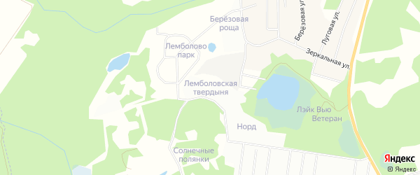 Лемболовская зона на карте Всеволожского района Ленинградской области с номерами домов