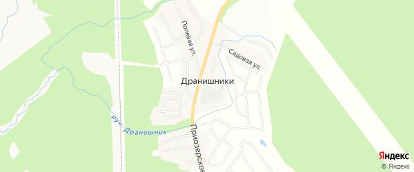 Территория ДНП Дранишники на карте Всеволожского района Ленинградской области с номерами домов