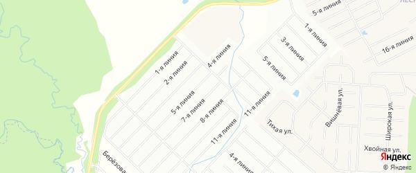 Территория днт Вартемяки на карте Всеволожского района Ленинградской области с номерами домов
