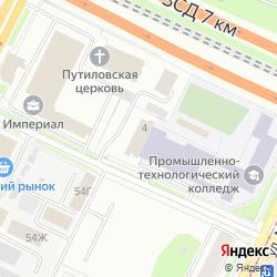 Действующая гостиница категории 3 звезды на улице Возрождения на карте