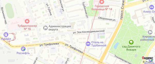 Улица Зои Космодемьянской на карте Санкт-Петербурга с номерами домов