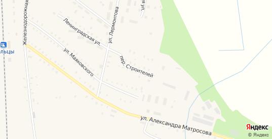Переулок Строителей в Сольцах с номерами домов на карте. Спутник и схема онлайн