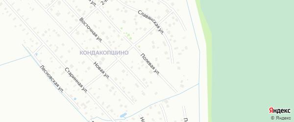 Улица Полевая (Кондакопшино) на карте Пушкина с номерами домов