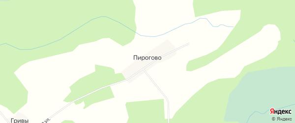 Карта деревни Пирогово в Новгородской области с улицами и номерами домов