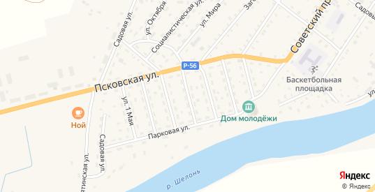 4 Советский переулок в Сольцах с номерами домов на карте. Спутник и схема онлайн