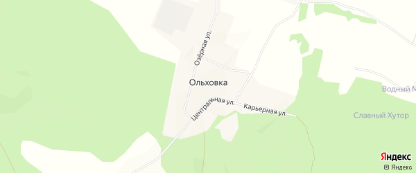 Карта поселка Ольховка д ДНП Ольховка в Ленинградской области с улицами и номерами домов