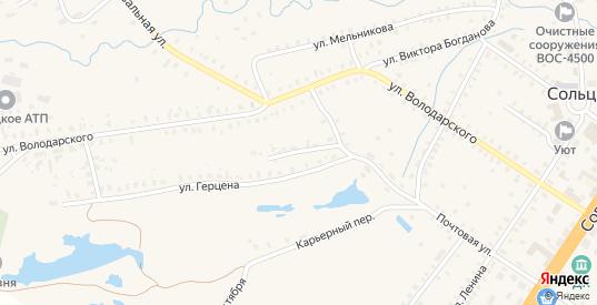 Переулок Курятника в Сольцах с номерами домов на карте. Спутник и схема онлайн