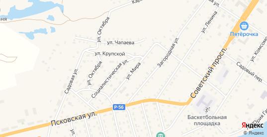 Улица Мира в Сольцах с номерами домов на карте. Спутник и схема онлайн